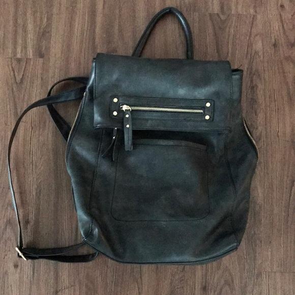b7f5377ce87 ALDO Black Leather Women s Backpack